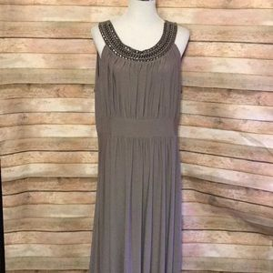 Taupe plus size dress.